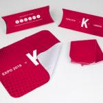 Mousepad con confezione astuccio in cartoncino personalizzato