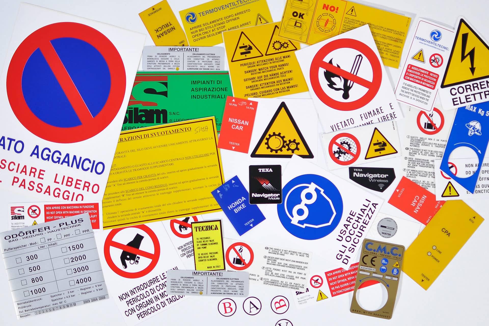 Etichette adesive tecniche
