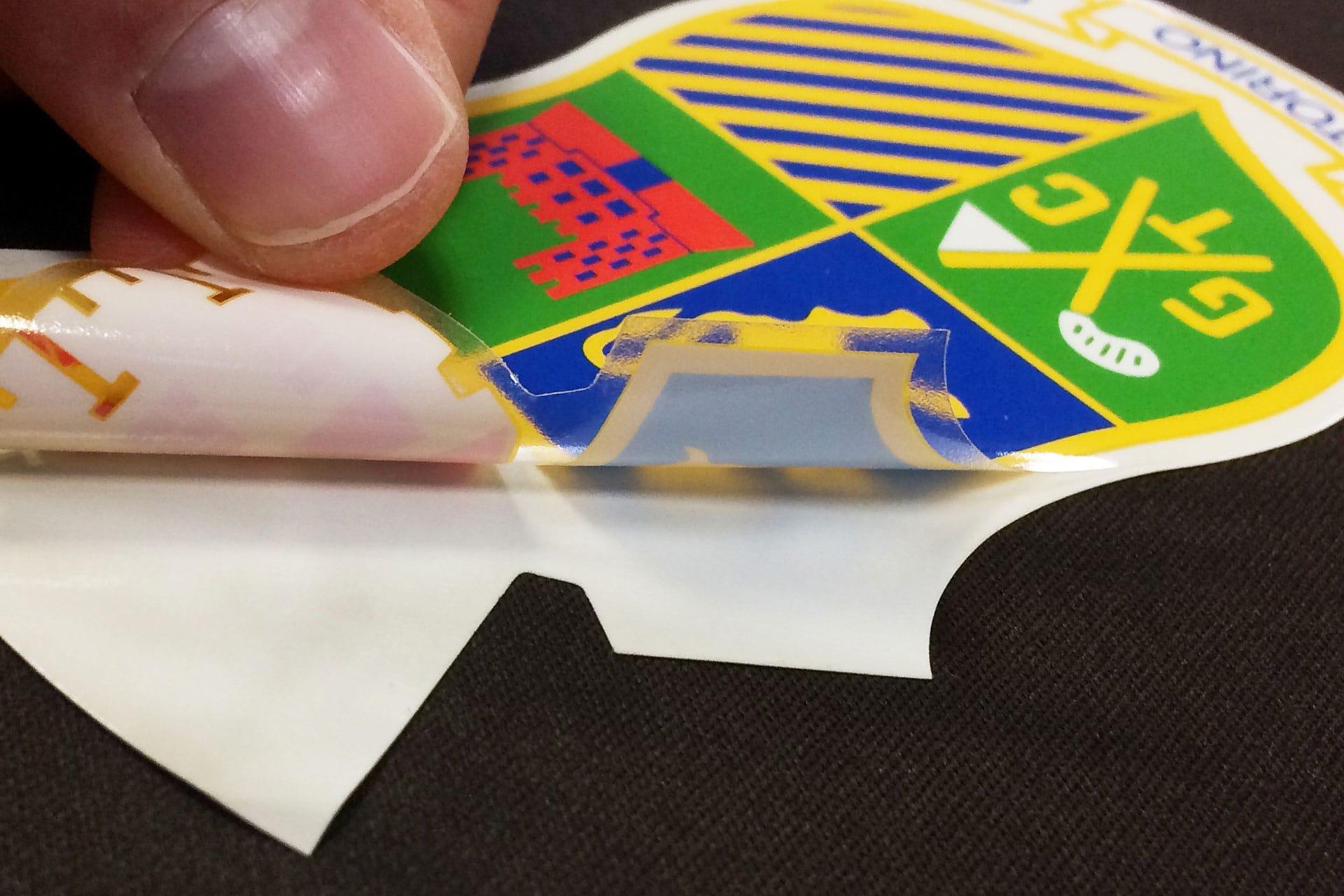 Etichetta adesiva stampata PVC trasparente