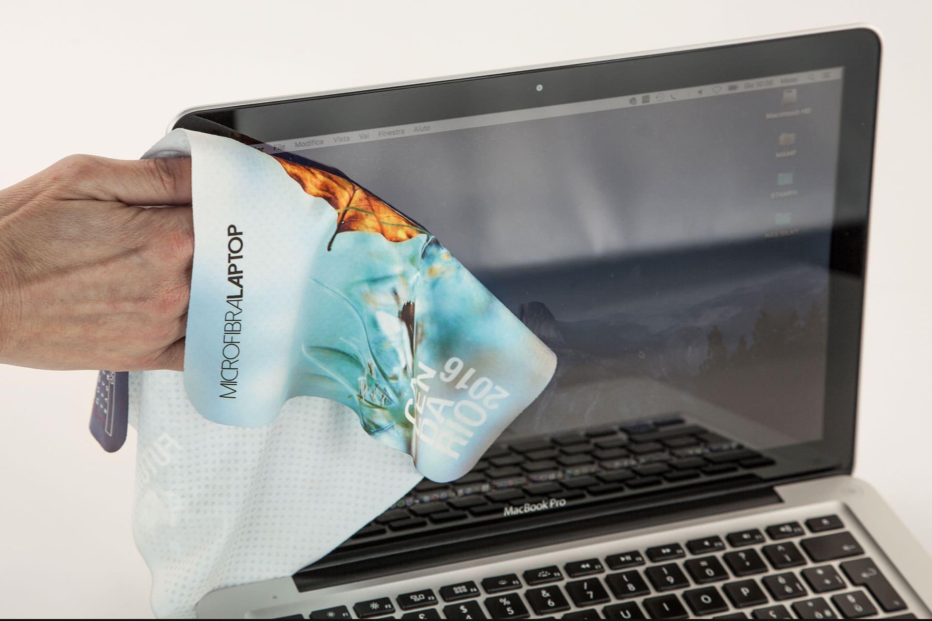Microfibra tappetino mouse Laptop pulisci schermo