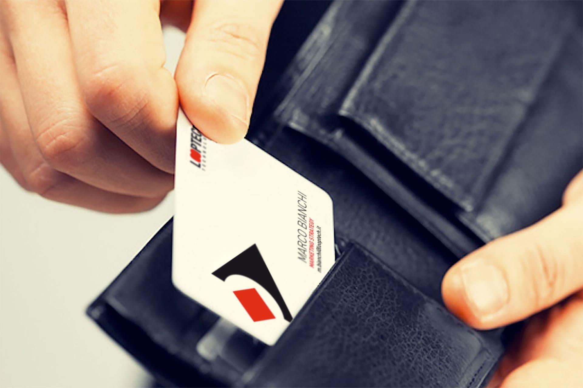 Card biglietto da visita in PVC