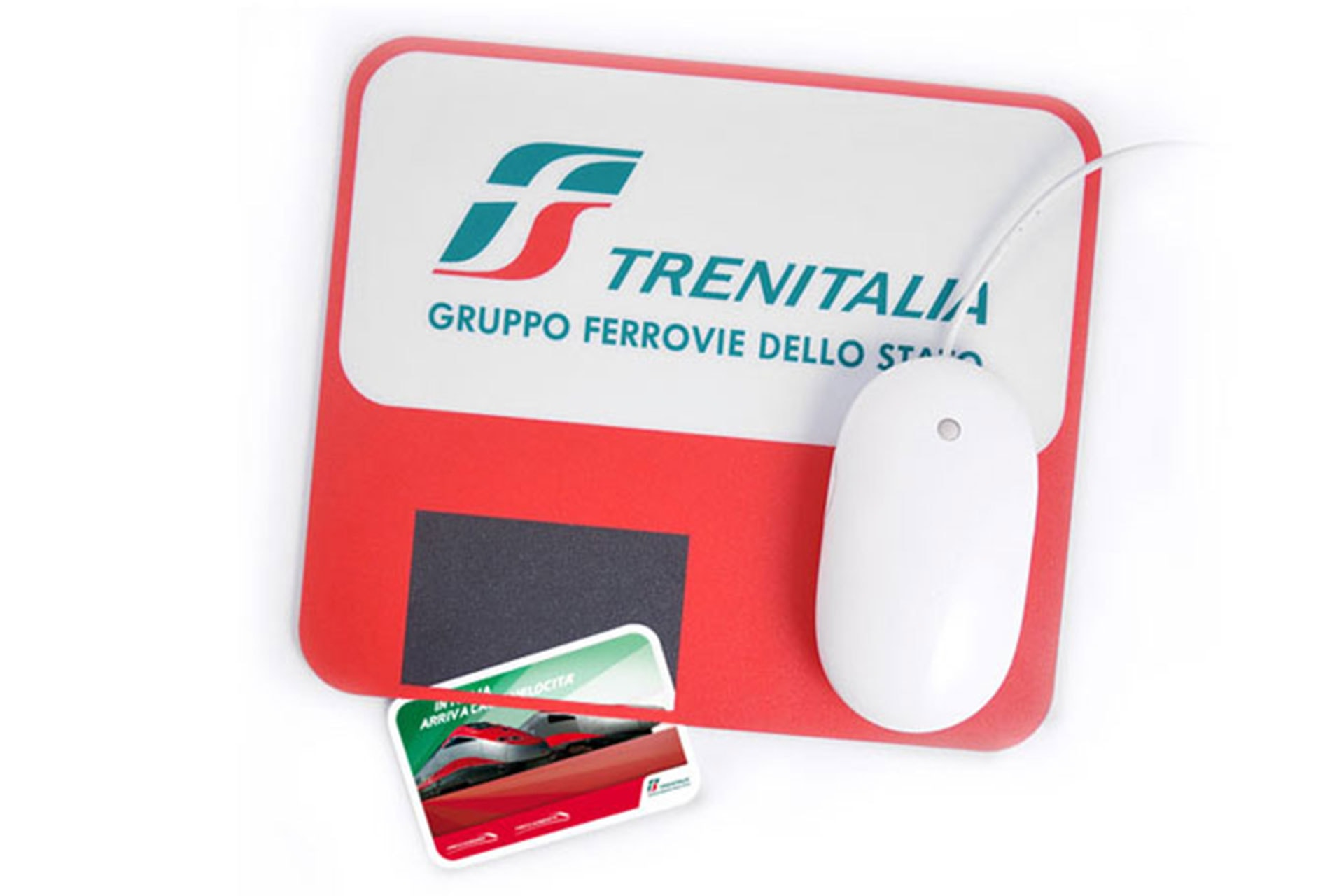 Tappetino mouse con tasca porta card