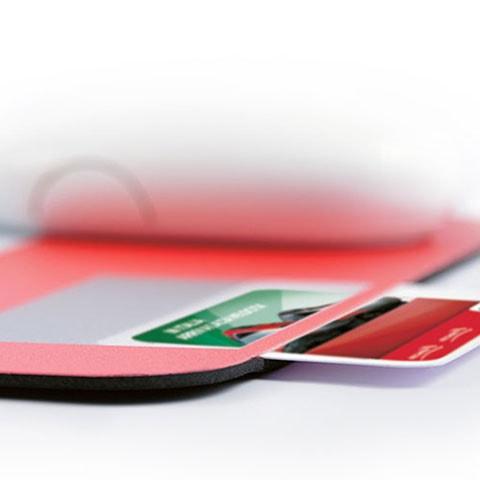 Mousepad porta tessera