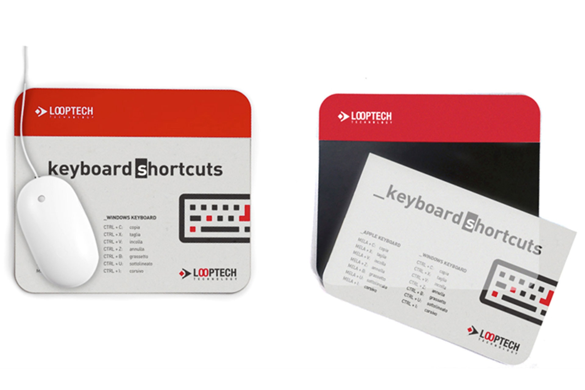 Mouse pad portadocumenti, notes, appunti, schemi tecnici