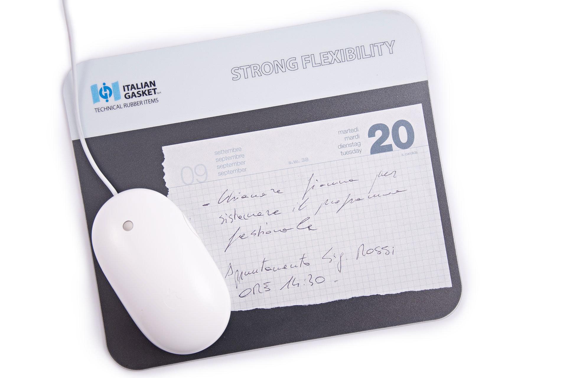 Mouse pad portadocumenti blocknotes