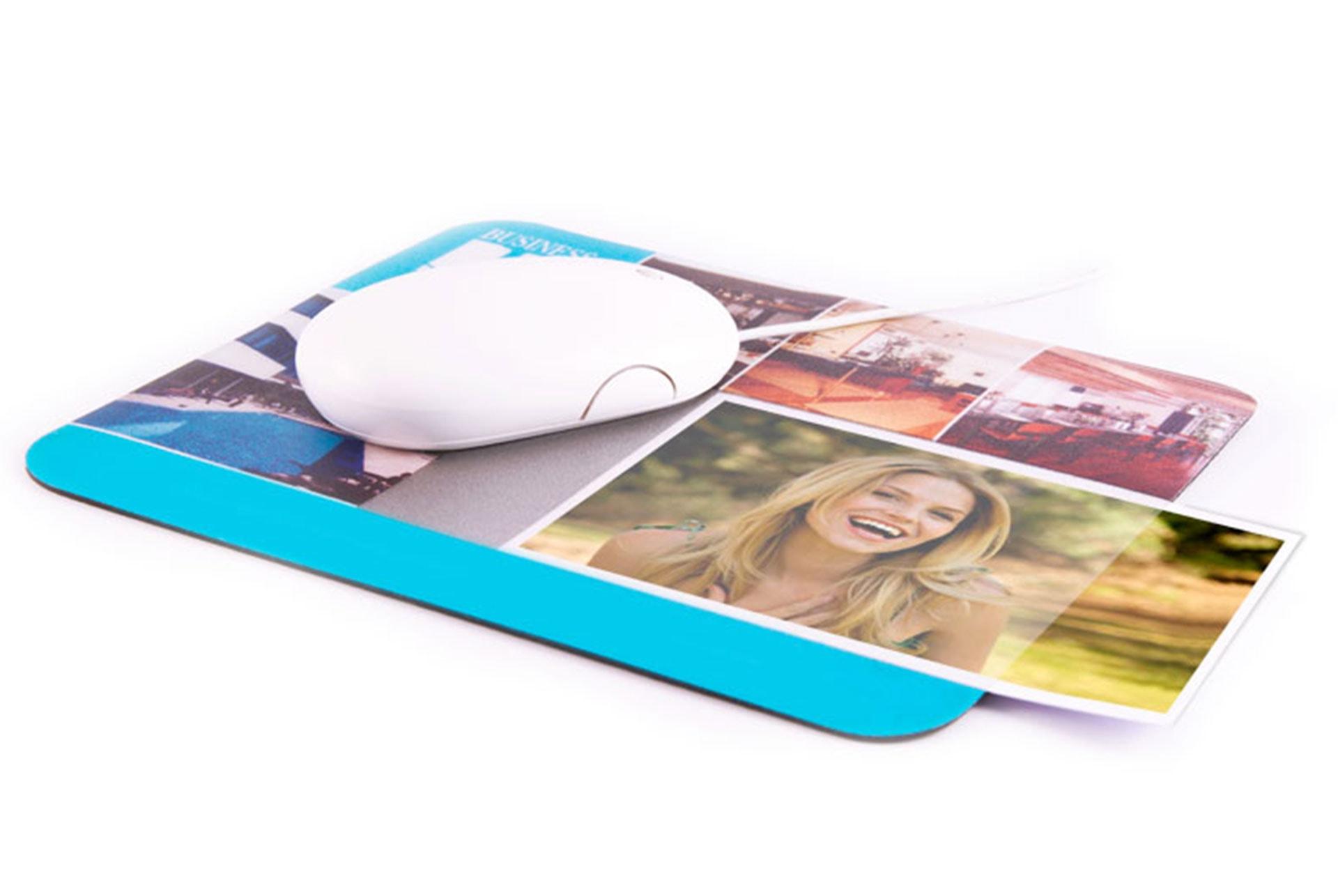 Mouse pad con tasca portafoto promozionali