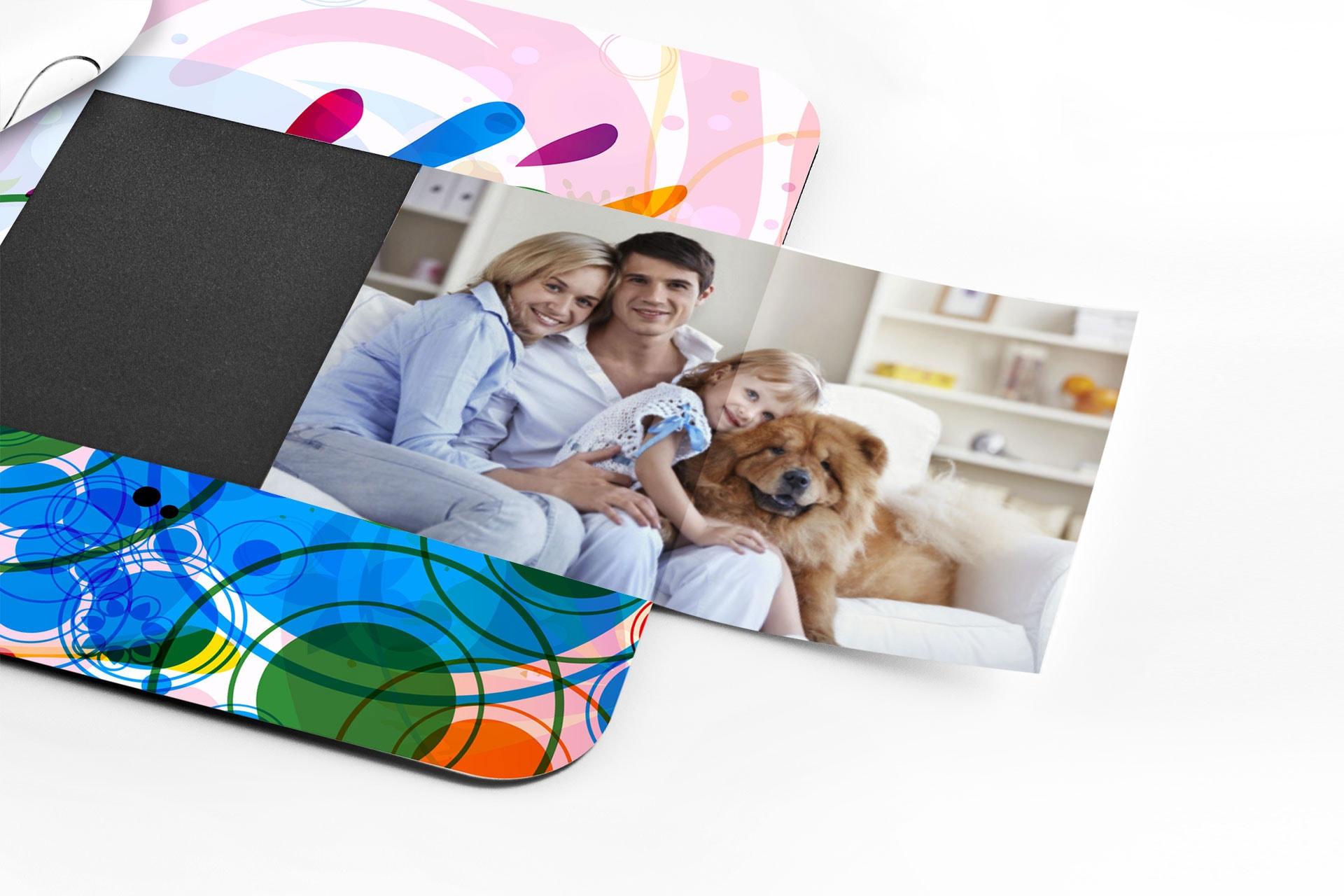 Tappetini mouse promozionali con tasca portafoto