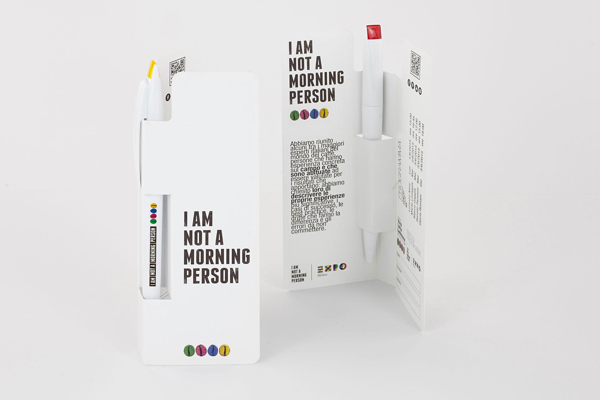Penna cartoncino personalizzato gadget per convegni