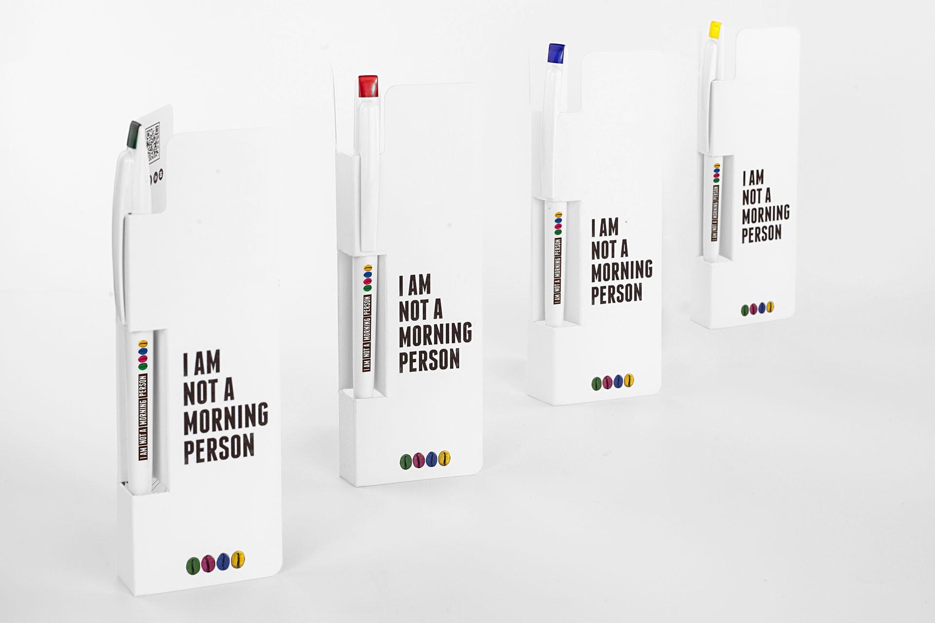 Penna personalizzata con supporto in cartoncino personalizzato