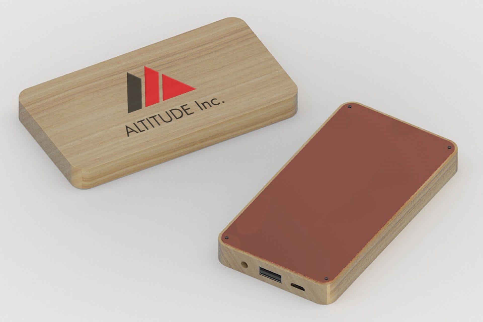 Powerbank Wood personalizzato