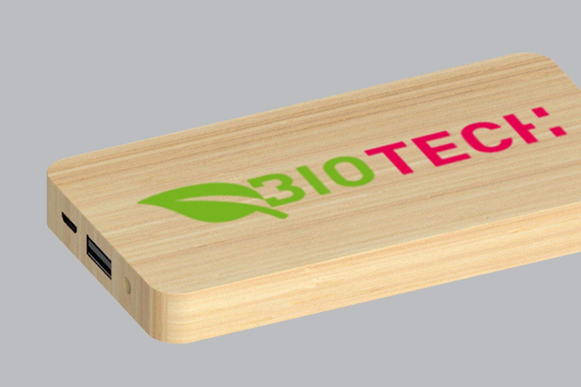 Powerbank Legno bamboo personalizzato
