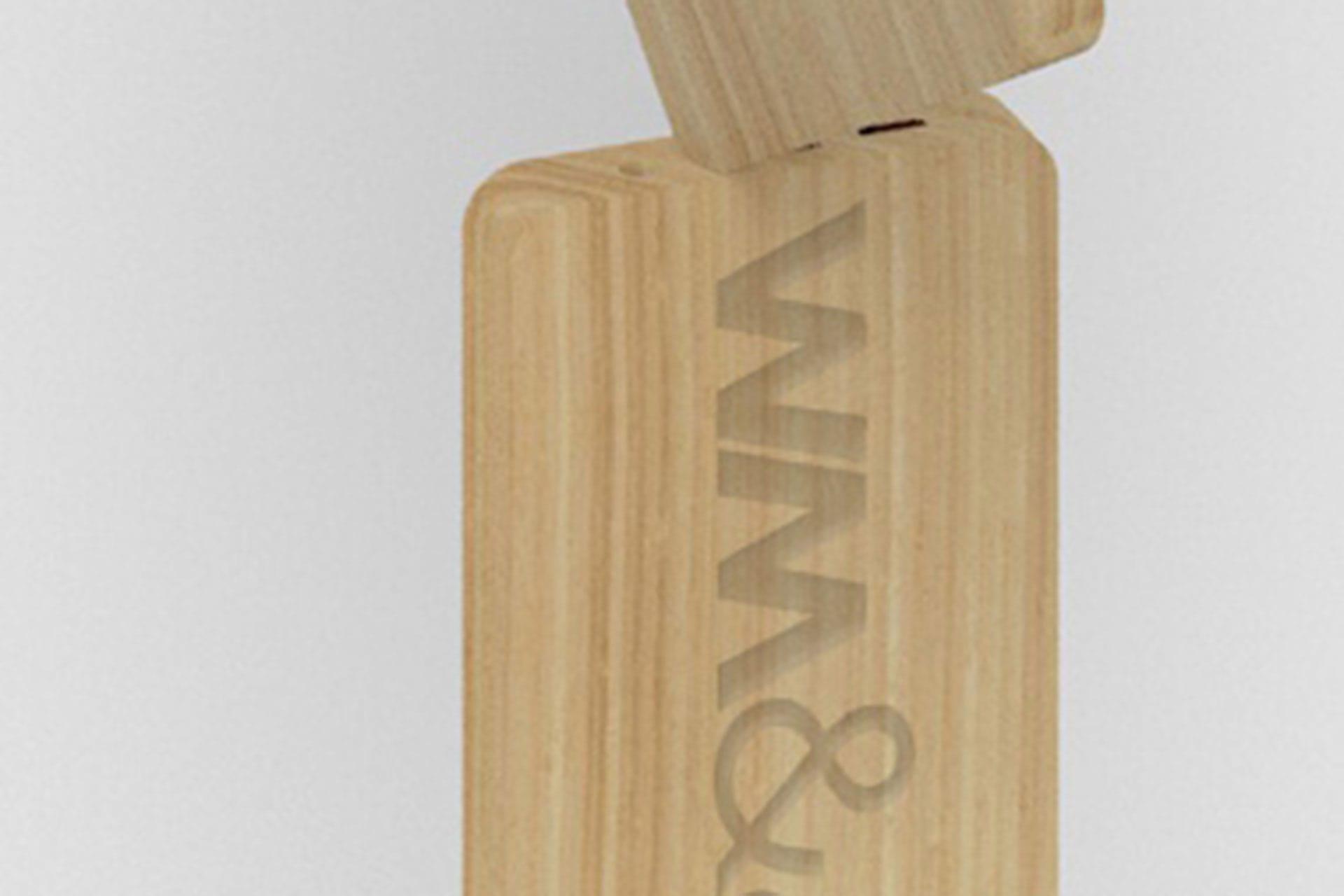 Powerbank Legno Wood personalizzato laser