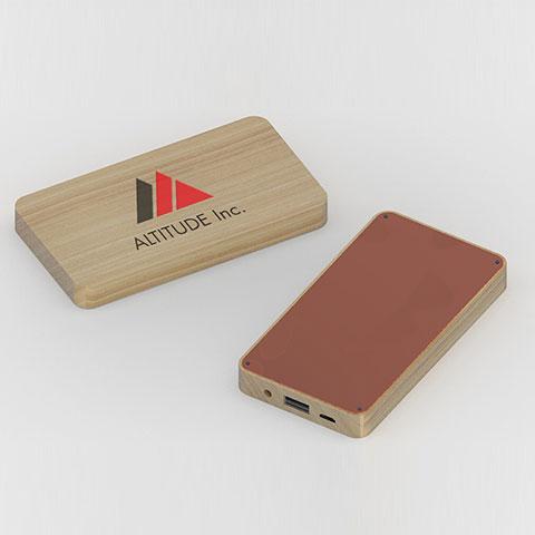 Power Bank Legno Wood Personalizzato