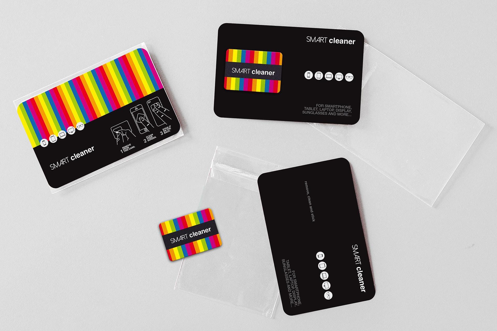 Pulisci schermo attacca stacca personalizzabile con card