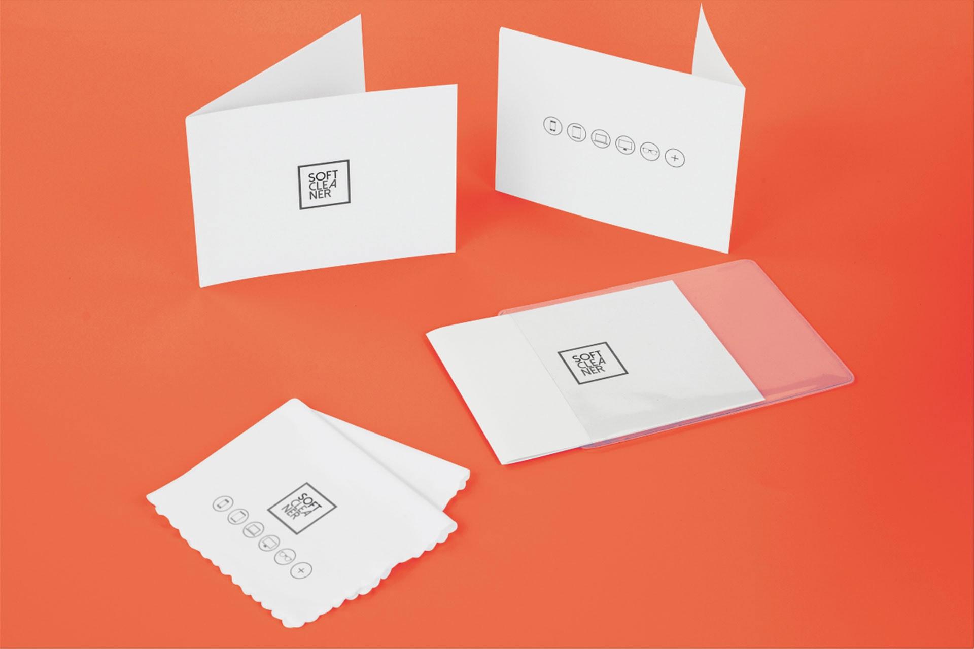 Telina in microfibra con confezione personalizzata