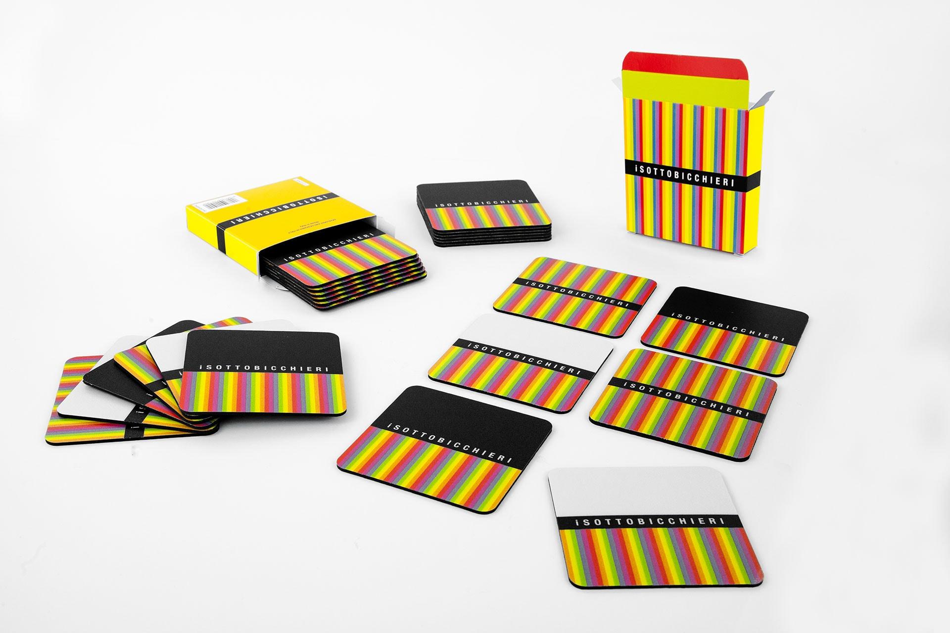 Kit sottobicchieri con confezione stampata