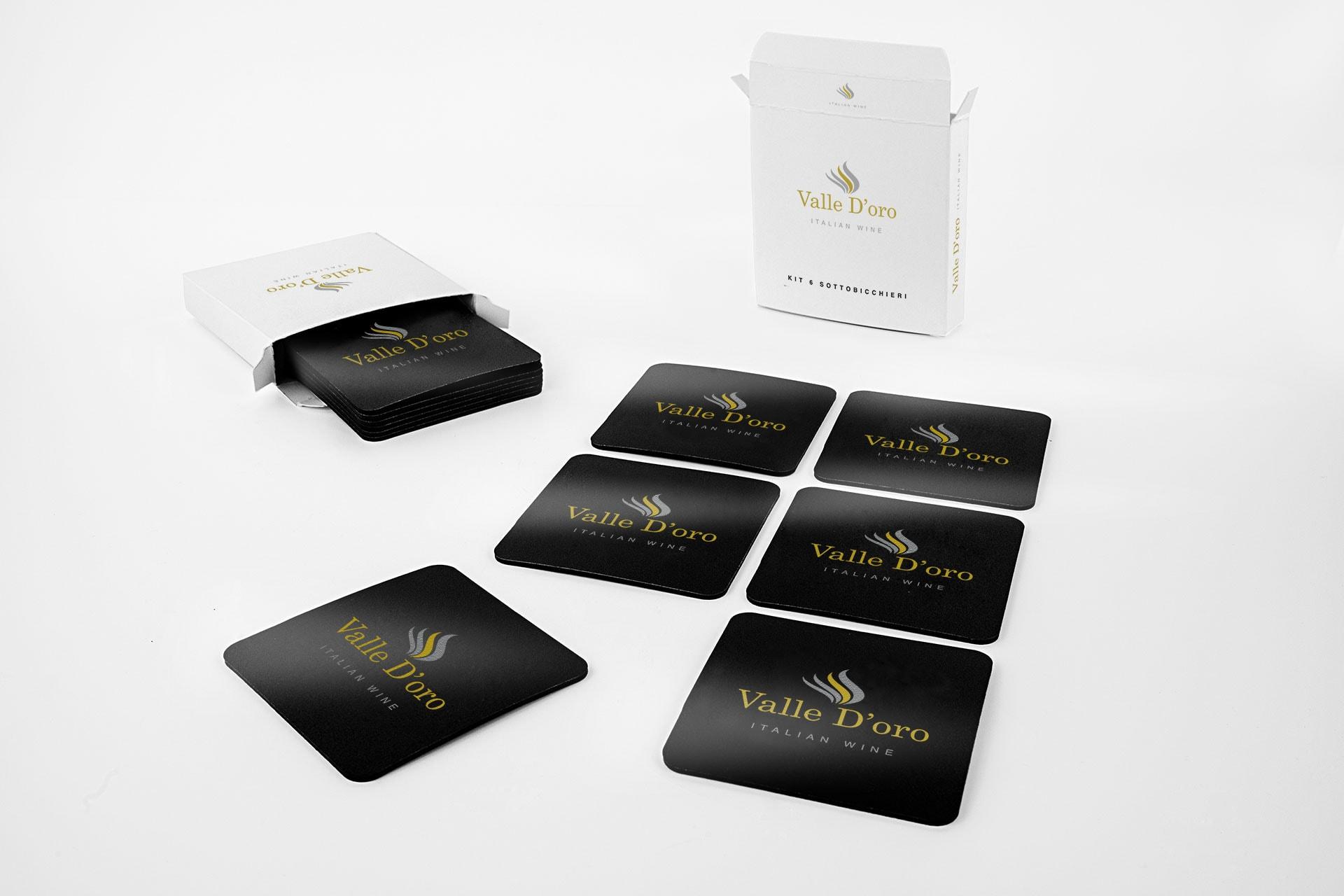 Sottobicchieri Pvc personalizzati kit da 6 pezzi