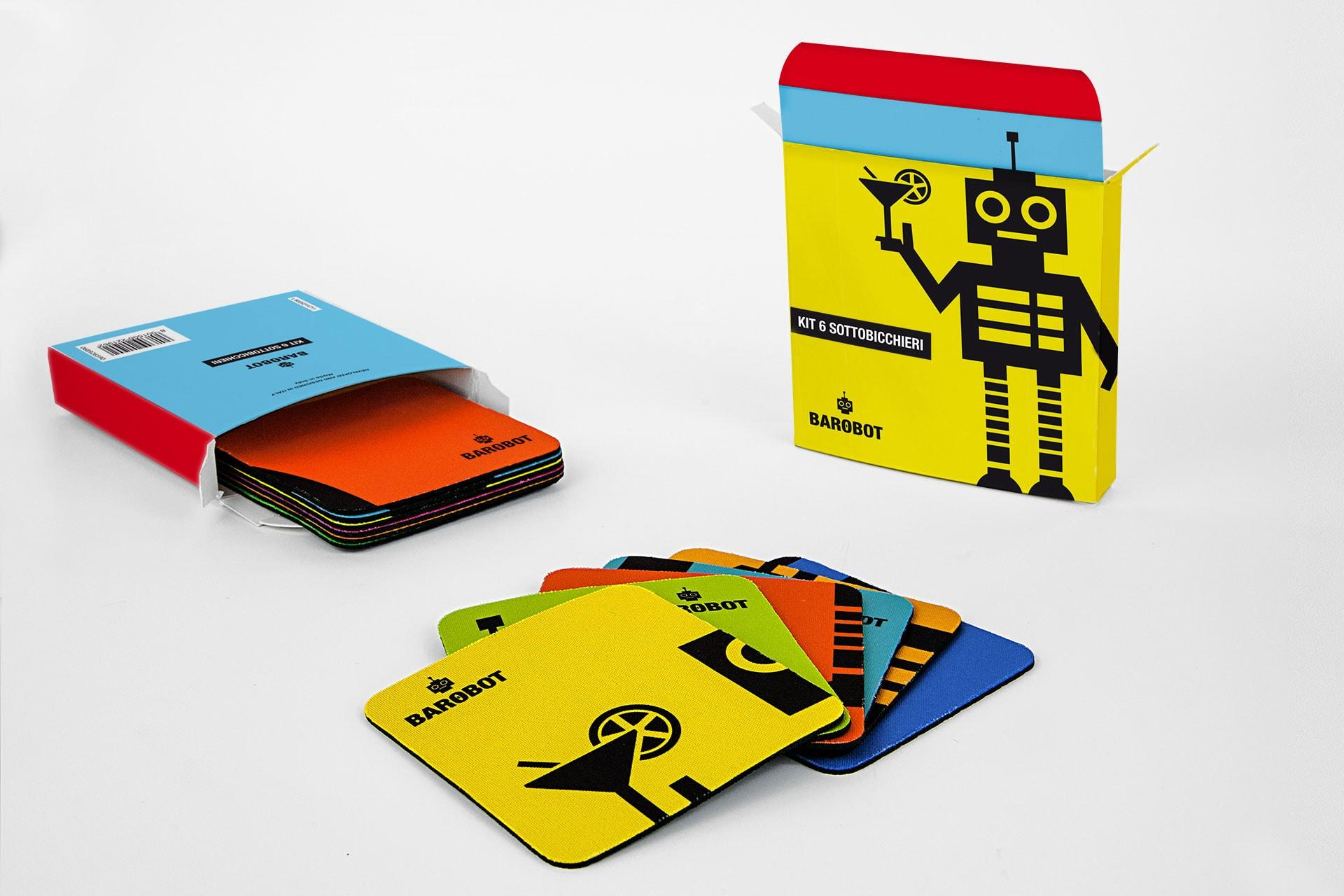 Kit Sottobicchieri in tessuto personalizzati
