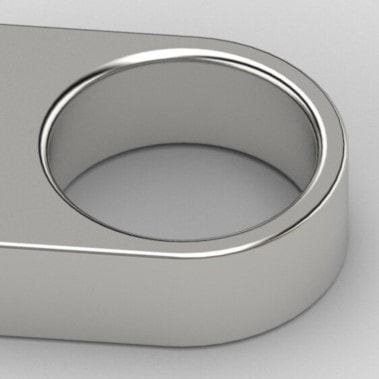 Chiavetta in metallo oro e argento