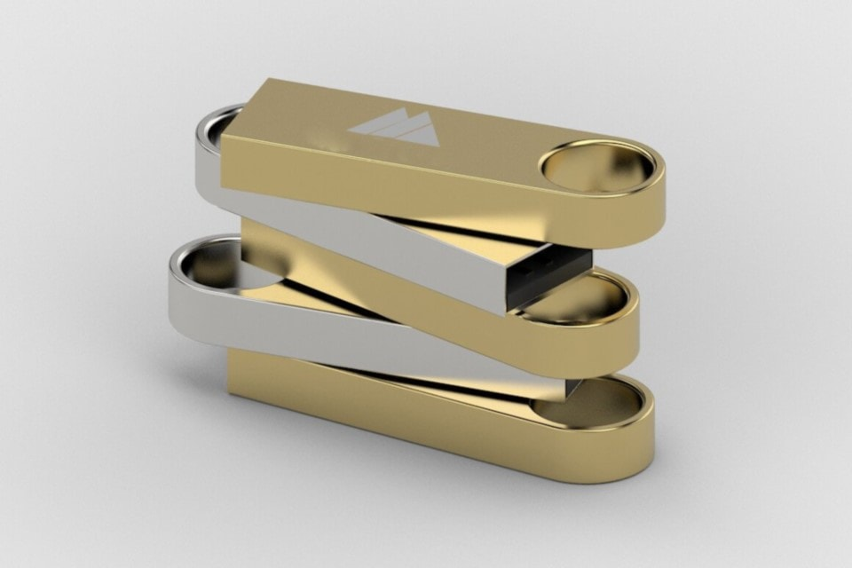 Usb oro personalizzabile incisione laser